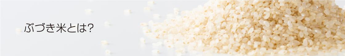ぶづき米とは?